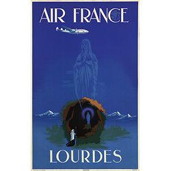 Affiche Air France Lourdes 50X70 MAF042