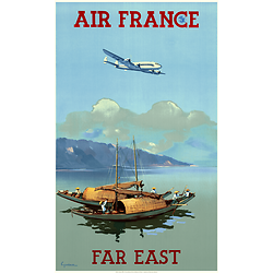 Affiche Air France Far East 50X70 MAF044