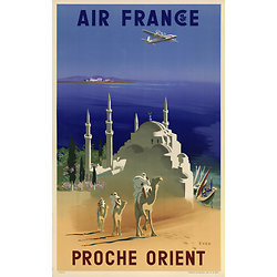 Affiche Air France Proche Orient 50X70 MAF045
