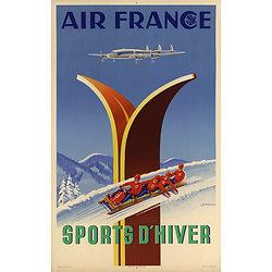 Affiche Air France Sports d'Hiver 50X70 MAF048