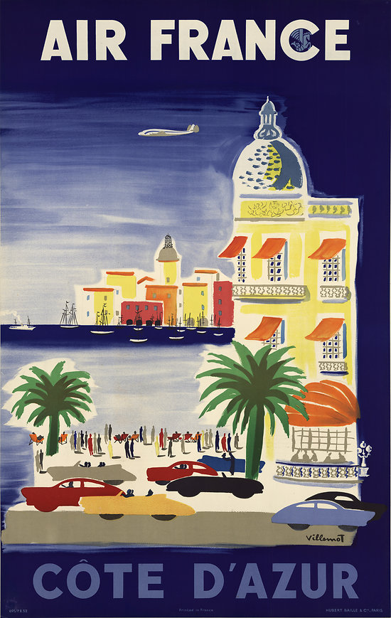 Affiche Air France French Riviera 50X70 MAF059