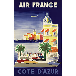 Affiche Air France French Riviera 50X70 MAF059
