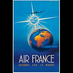 Affiche Air France rayonne sur le monde 50X70 MAF018