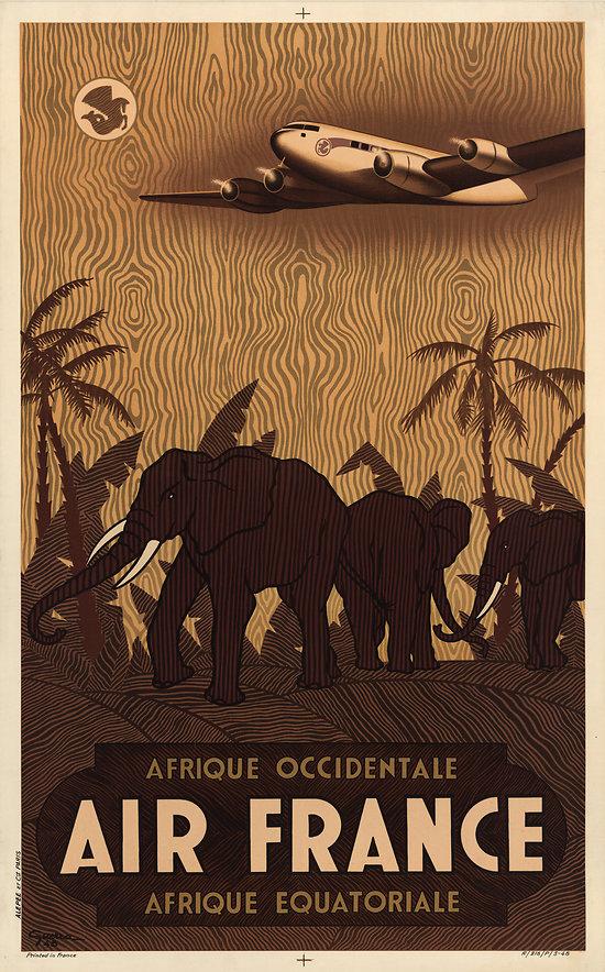 Affiche Air France Afrique 50X70 MAF029