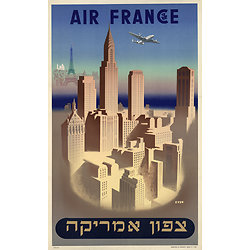 Affiche Air France Amérique du Nord 50X70 MAF041
