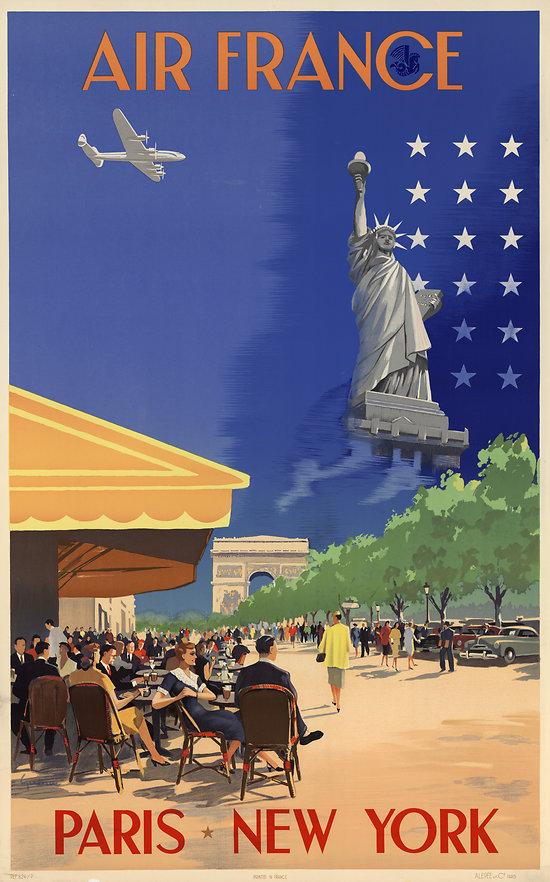 Affiche Air France New York 50X70 MAF054