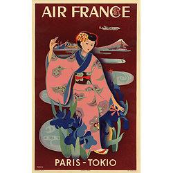 Affiche Air France Paris Tokio 50X70 MAF064
