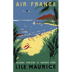 Affiche Air France Île Maurice 50X70 MAF068