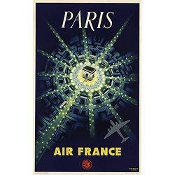 Affiche Air France Paris Arc de Triomphe 50X70 MAF080