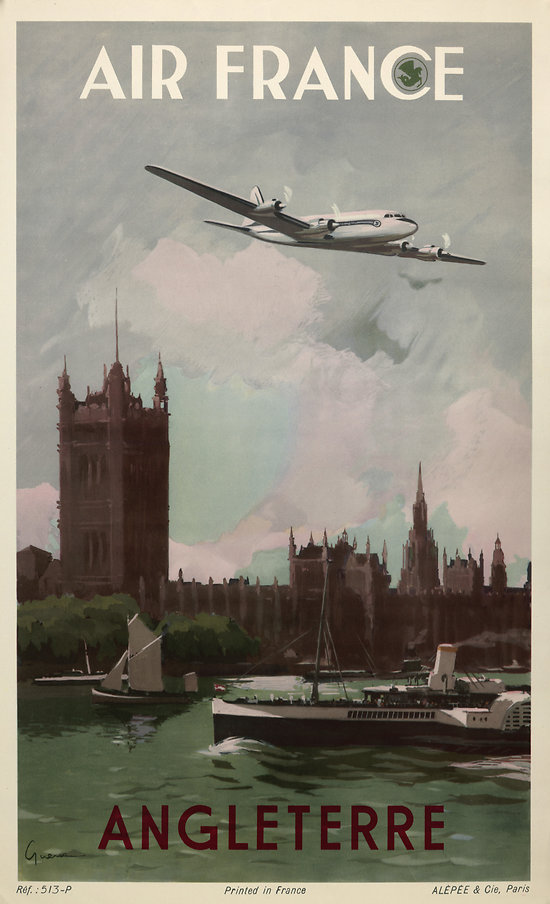 Affiche Air France Angleterre 50X70 MAF297