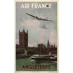 Affiche Air France Angleterre 50X70 MAF297
