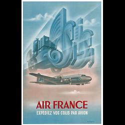 Affiche Air France Expédiez vos colis 50X70 MAF308