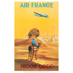 Affiche Air France Proche Orient 50X70 MAF560