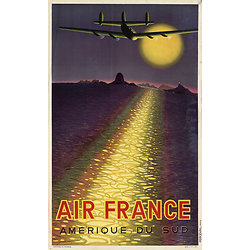 Affiche Air France Amérique du Sud 50X70 MAF22
