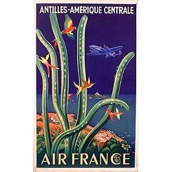 Affiche Air France Amérique Centrale 50X70 MAF031BIS