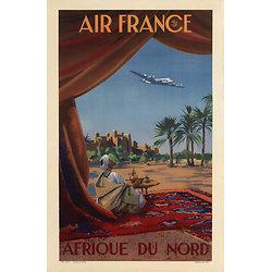 Affiche Air France Afrique du Nord