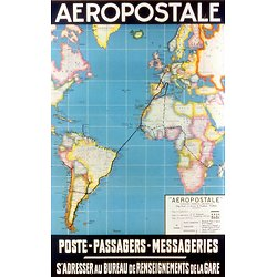 Affiche Air France Aeropostale 50X70 MAF565