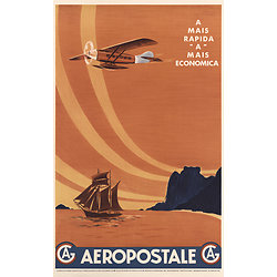 Affiche Aeropostale mais economica