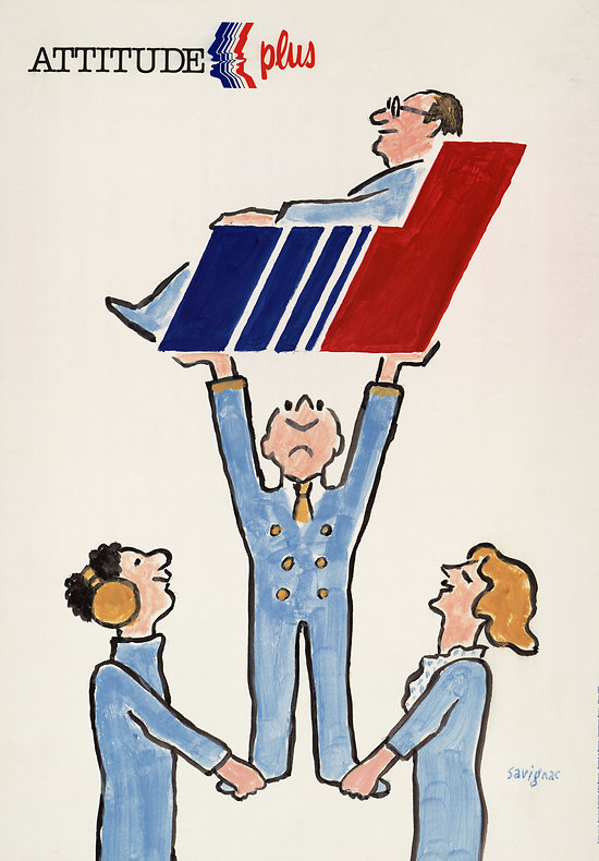 Affiche Air France attitude plus 50X70 MAF587