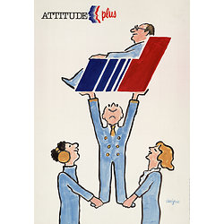 Affiche Air France attitude plus 50X70 MAF587