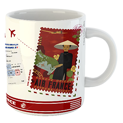 Mug Let's travel Air France Europe Orient & Extrême Orient