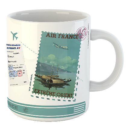 Mug Let's travel Air France Extrême Orient