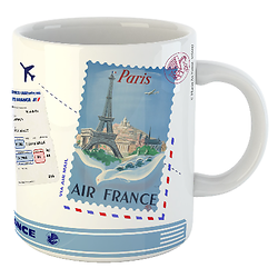 Mug Let's travel Air France Paris