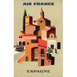 Affiche Air France Espagne Papier Vergé A094