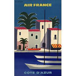 Affiche Air France Côte d'Azur Papier Vergé A096