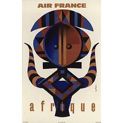 Affiche Air France Afrique Papier Vergé A099