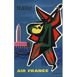 Affiche Air France Italie Papier Vergé A110