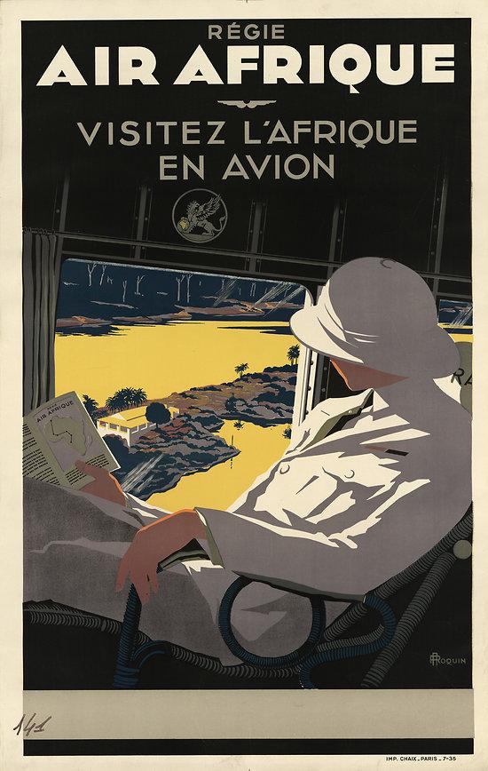 Affiche Air Afrique Papier Vergé A166