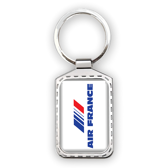 Porte-clé métal logo Air France (code barre)
