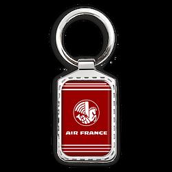 Porte-clé métal Hippocampe Air France (Fond rouge)