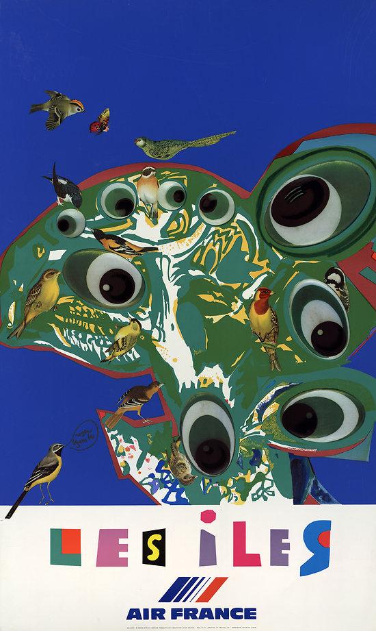 Affiche Air France Les Îles 63x100 A433