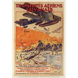 Affiche Transports Aériens Guyanais 63x100 63x100 A621