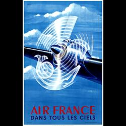 Affiche Air France Dans tous les ciels 50X70 A033