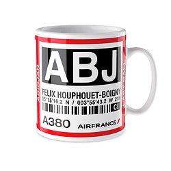 Mug A380 ABJ Abidjan