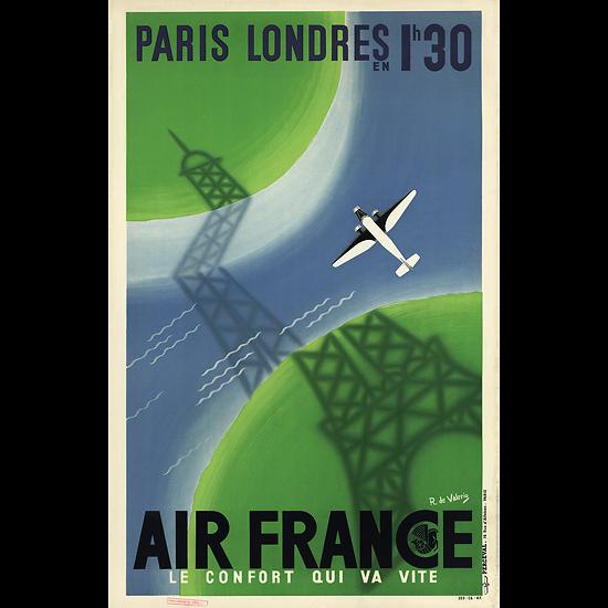 Affiche Paris Londres 63x100 A007