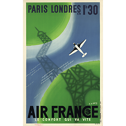 Affiche Paris Londres 63x100 A007