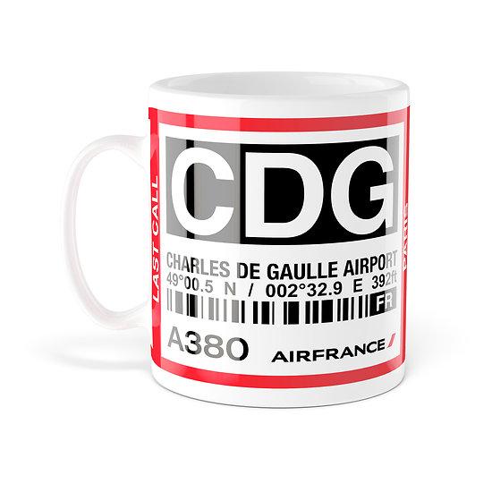 Mug A380 CDG Paris AF007