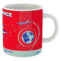Mug Air France Time Table 1956
