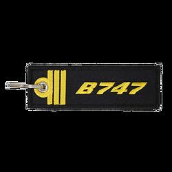 Porte-Clefs Officier Pilote de Ligne B747