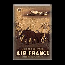 Magnet Affiche Afrique éléphants