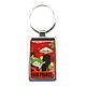 Porte-clé métal Extrême Orient rouge