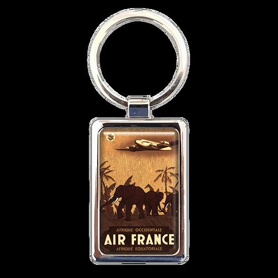 Porte-clé métal Afrique éléphants