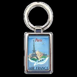 Porte-clé métal Paris tour Eiffel colombe