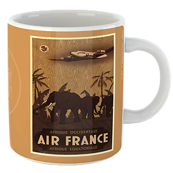 Mug Citation Afrique fond marron