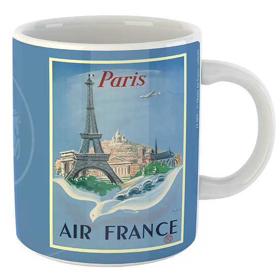 Mug Citation Paris fond bleu