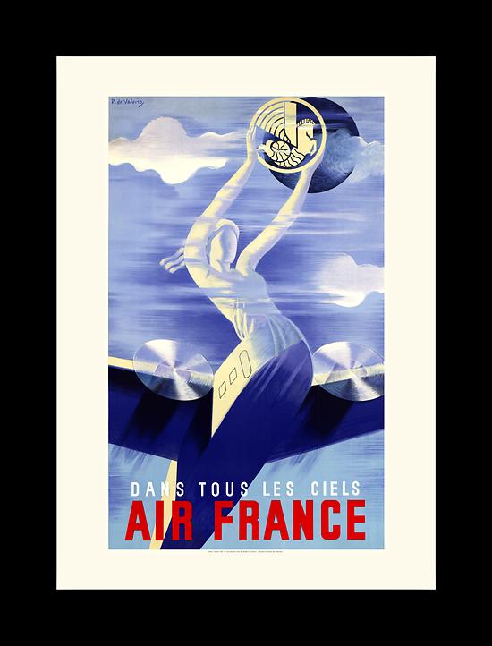 Affiche Air France Dans tous les ciels A005